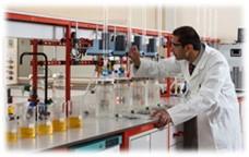 Laboratory testing water treatment